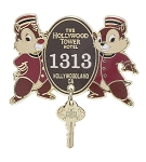 Disney Tower of Terror Pin - Hollywood Tower Hotel - Chip n Dale