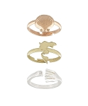 Disney Ring Set - Kingdom and Castles - Ariel - Set of 3