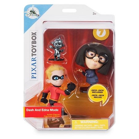 Disney Action Figure Set - Dash, Edna, and Jack-Jack - Incredibles 2