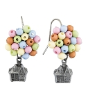 Disney Dangle Earrings - Pixar UP - House and Balloons