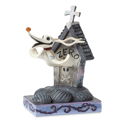 Disney Jim Shore Figure - Zero and Doghouse - Floating Friend