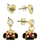 Disney Earrings Set - Dots and Dashes - Minnie Mouse Ear Hats & Hearts