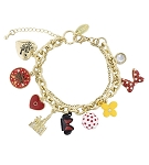 Disney Charm Bracelet - Dots and Dashes - Minnie Mouse Icon Charms