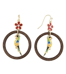 Disney Dangle Earrings - Tiki Bird Bamboo - Enchanted Tiki Room