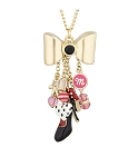 Disney Necklace - Dots and Dashes - Minnie Mouse Charms - Gold