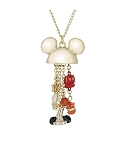 Disney Necklace - Dots and Dashes - Mickey Mouse Charms - Gold