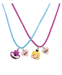 Disney Necklace Set - Emoji Alice and Cheshire - BFF