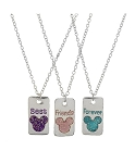 Disney Necklace Set - Mickey BFF Sparkle - Set of 3