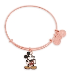Disney Alex and Ani Bracelet - Mickey Mouse Figural Bangle - Rose Gold