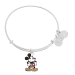 Disney Alex and Ani Bracelet - Mickey Mouse Figural Bangle - Silver