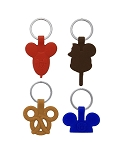 Disney Keychain Set - Mickey Mouse Park Icons - 4 Pack