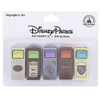 Disney Highlighter Set - Trash Can - Magic Kingom - 5 Pack
