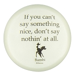 Disney Paperweight - Bambi - If you can't say something nice