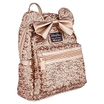 Disney Loungefly Backpack - Minnie Mouse Rose Gold - Sequined