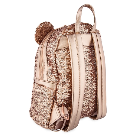 d2cfa931664 Disney Loungefly Backpack - Minnie Mouse Rose Gold - Sequined. Tap to expand