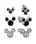 Disney Post Earrings Set - Mickey Mouse Icons - Clear Black Blue