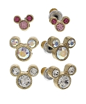 Disney Post Earrings Set - Mickey Mouse Icons - Pink and Clear