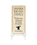 Disney Tile with Stand - Lilo and Stitch - Ohana Means Family