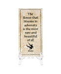 Disney Tile with Stand - Mulan - The Flower that Blooms in Adversity