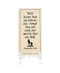 Disney Tile with Stand - Winnie the Pooh - You're Braver than you Believe