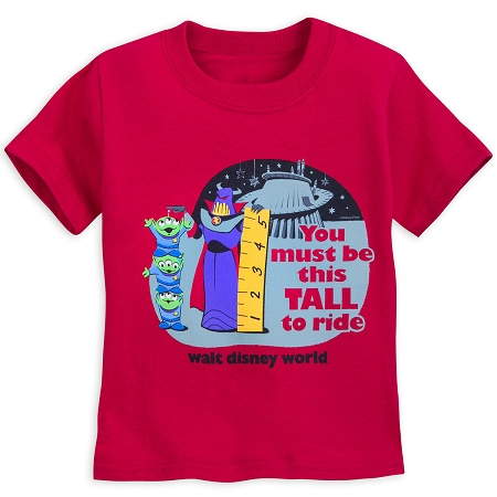 Disney Toddler T-Shirt - Toy Story Land - Zurg and Space Aliens - Red