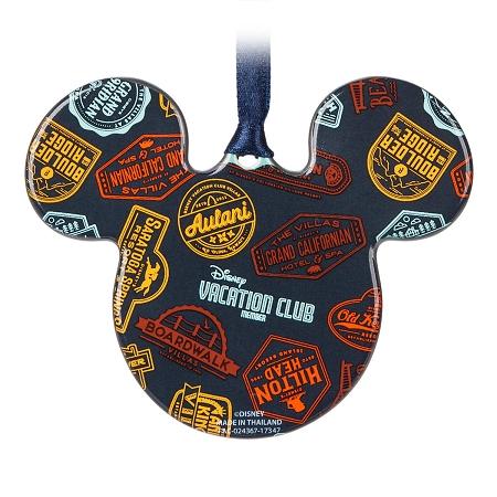 Disney Parks Mickey Mouse Icon Ceramic Ornament Disney Vacation Club NEW