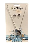 Disney Necklace and Earrings Set - Greetings - Magic Kingdom
