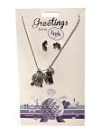 Disney Necklace and Earrings Set - Greetings - Epcot