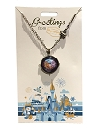Disney Necklace - Greetings - Magic Kingdom - Compass