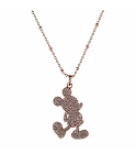Disney Rebecca Hook Necklace - Mickey Mouse Silhouette - Silver & Gold