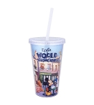Disney Tumbler with Straw - Epcot World Showcase Paris - Marie
