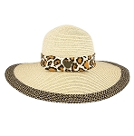 Disney Straw Hat for Women - Animal Kingdom - Animal Print