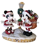 Disney Christmas Figurine - Santa Mickey & Minnie Mouse - Light-Up
