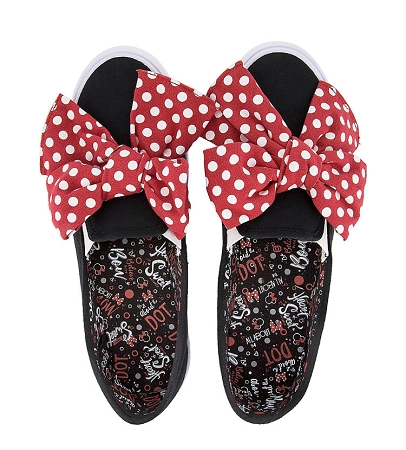 a0ebb5041b52 Disney Canvas Shoes for Women - Minnie Mouse Big Red Bow