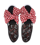 Disney Canvas Shoes for Women - Minnie Mouse Big Red Bow