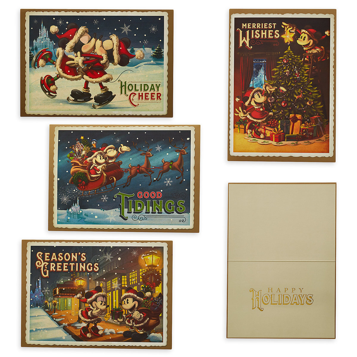 Disney holiday greeting cards turn of the century mickey minnie m4hsunfo
