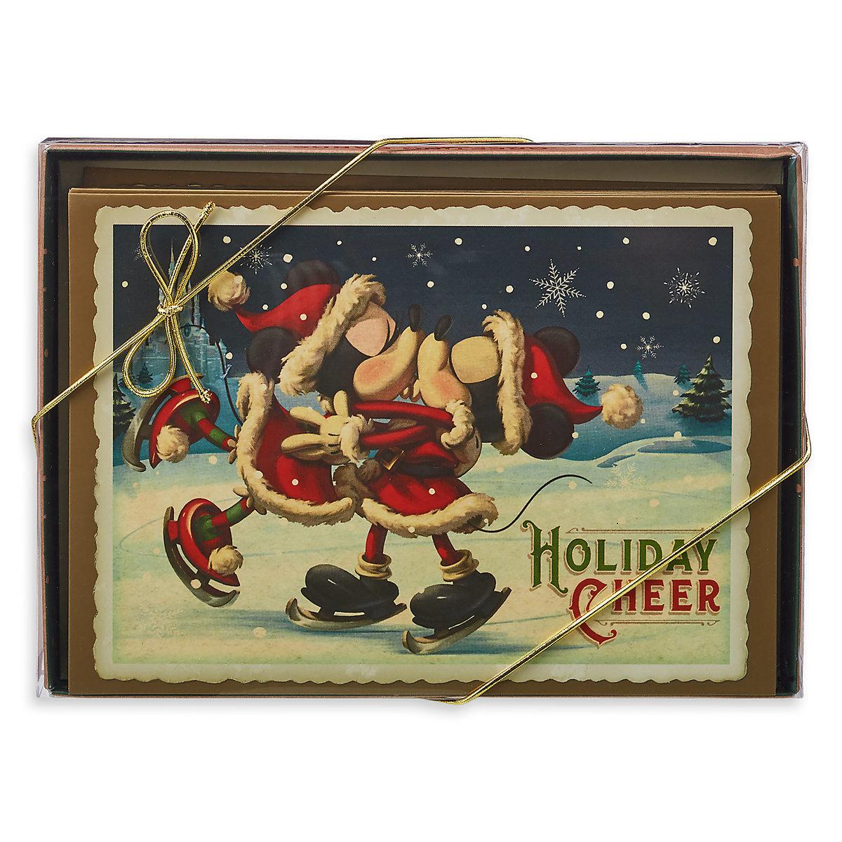 Disney holiday greeting cards turn of the century mickey minnie add to wish list m4hsunfo