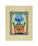 Disney Tercek Art Print - Maui Mischeif - Stitch and Tiki