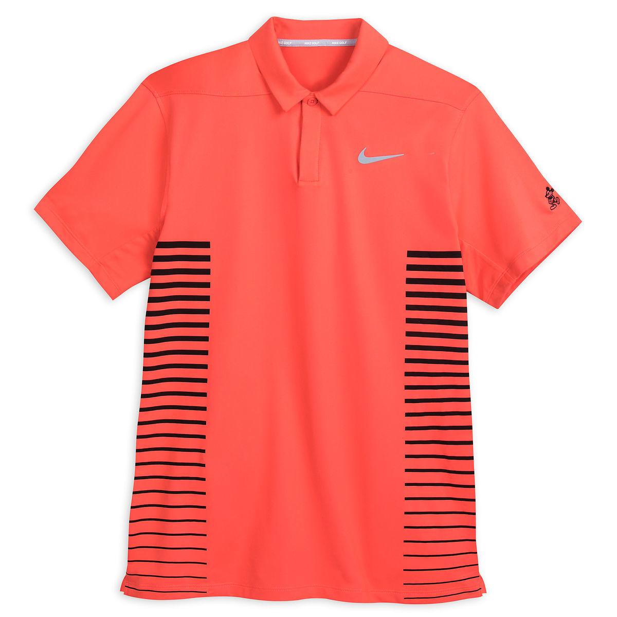 Disney Polo Shirt For Men Nike Golf Mickey Mouse Coral Stripe