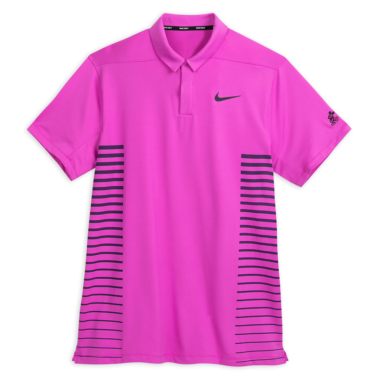 Disney Polo Shirt For Men Nike Golf Mickey Mouse Magenta Stripe
