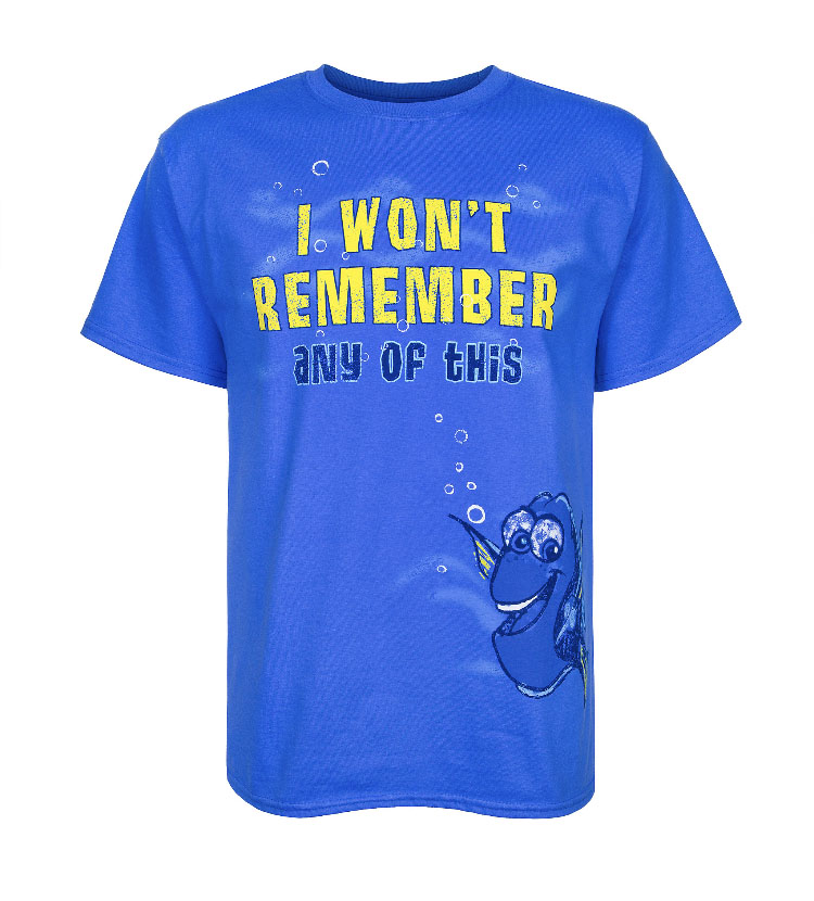 742d4dfaf0 Disney Shirt for Adults - Finding Dory - I Wont Remember any of This