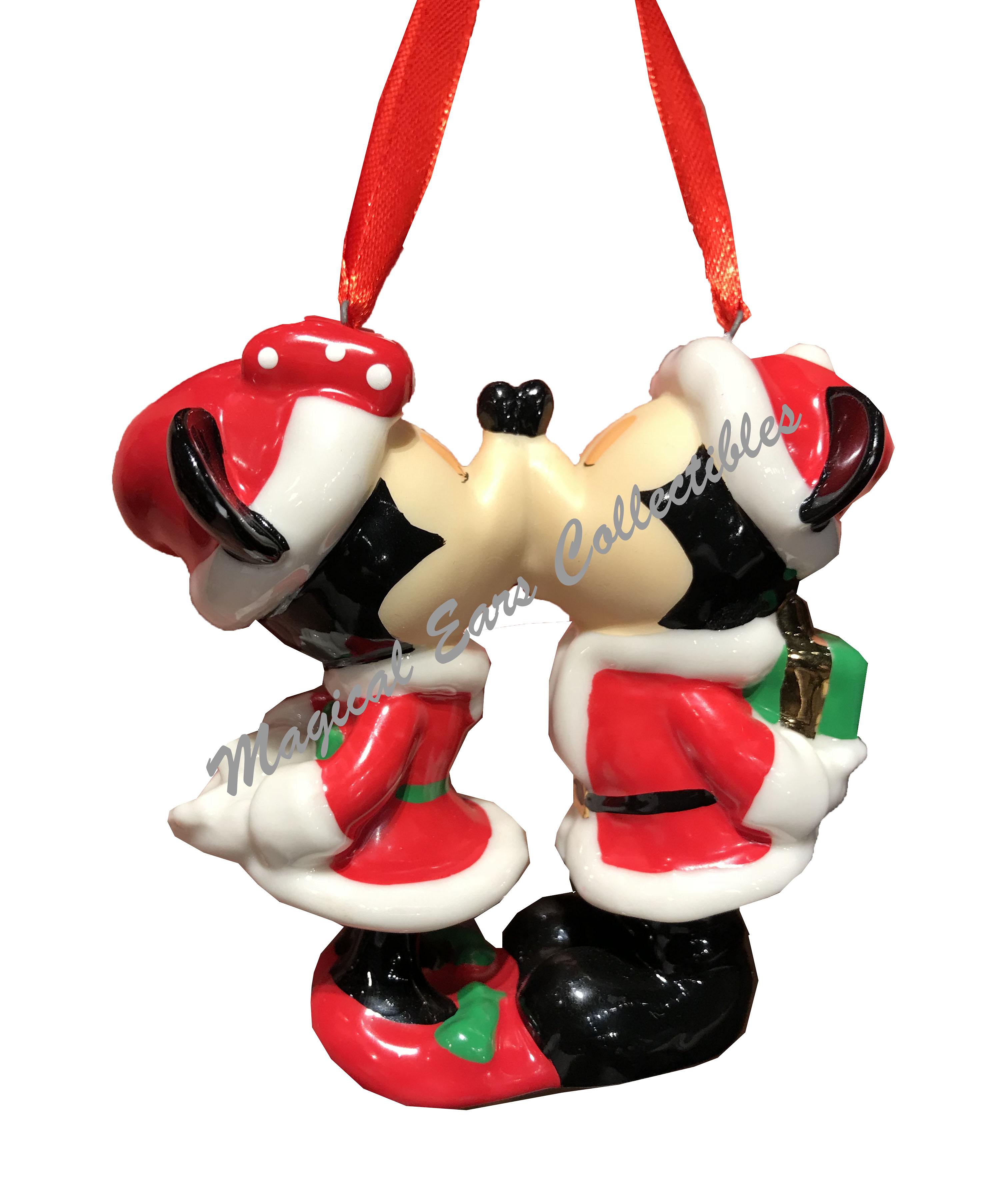Disney Christmas Ornament - Santa Mickey and Minnie Kiss