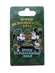 Disney St. Patrick's Day Pin - 2014 Mickey and Minnie