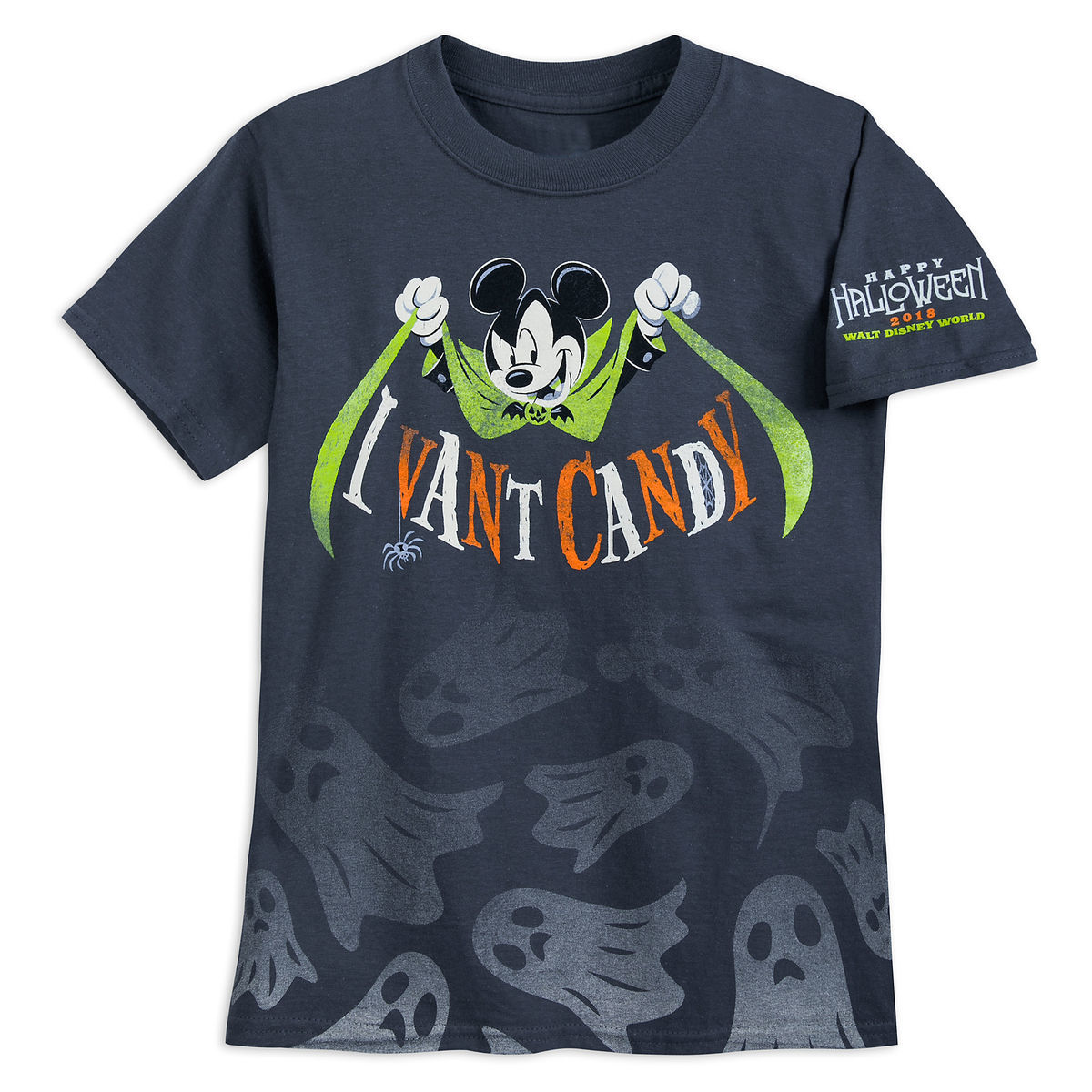 Walt Disney World Halloween T Shirts.Disney T Shirt For Boys Halloween Vampire Mickey I Vant Candy