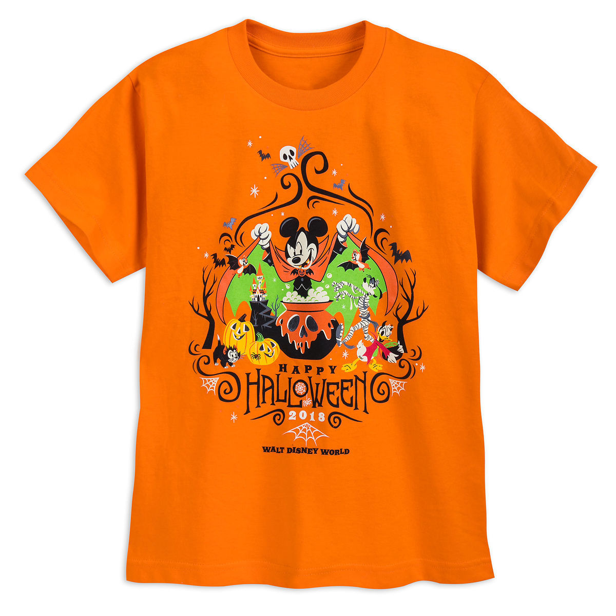 Disney Halloween T Shirts.Disney T Shirt For Boys 2018 Halloween Mickey And Friends Orange