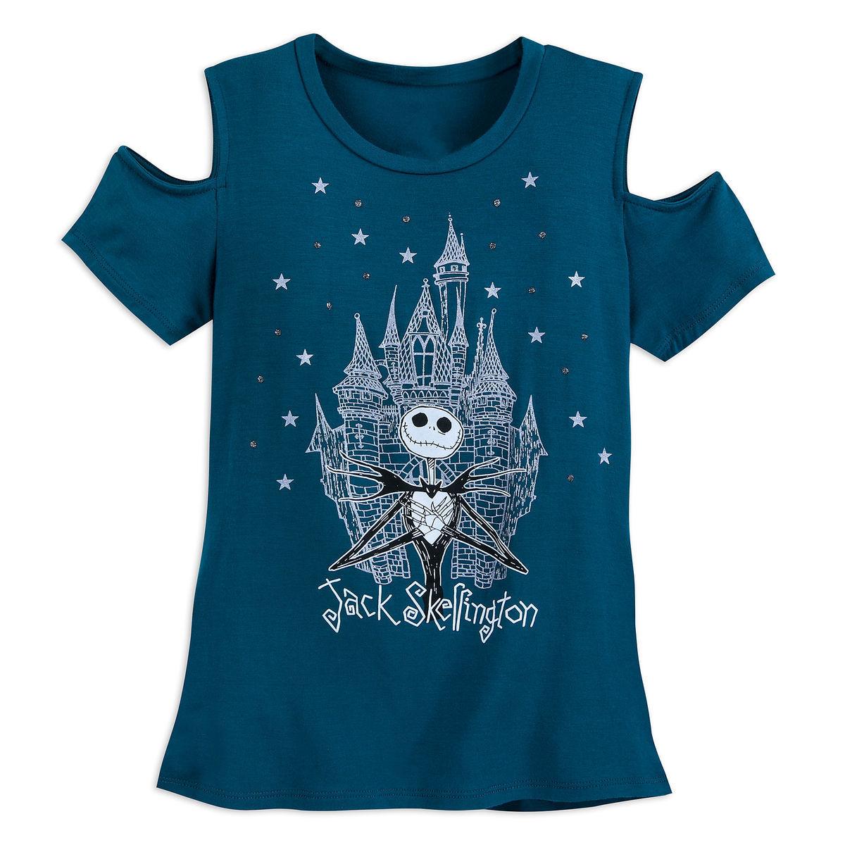 7c738874 Add to My Lists. Disney Shirt for Girls - Jack Skellington Fashion - Cold  Shoulder
