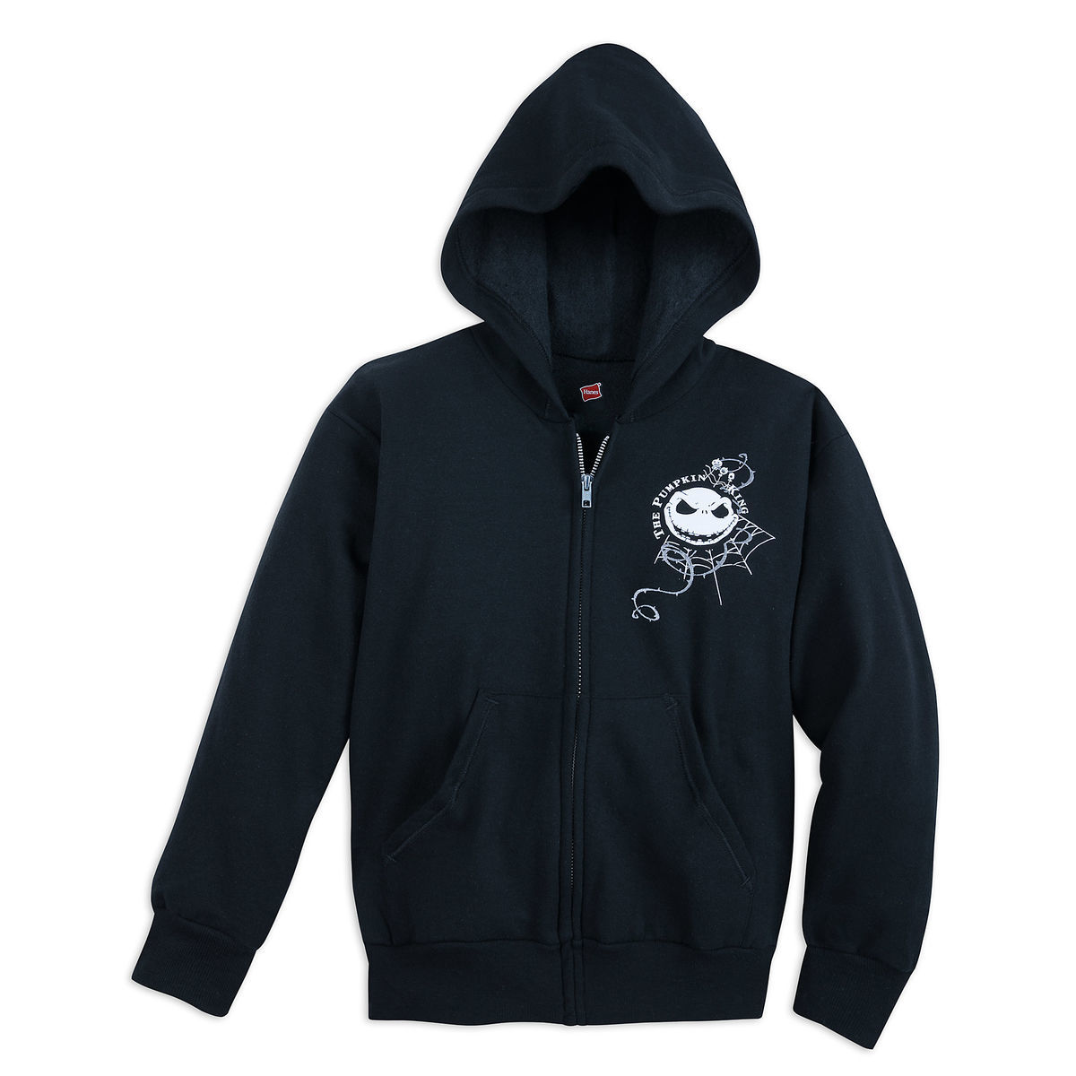 Disney Child Zip Hoodie - Jack Skellington - Pumpkin King - Black