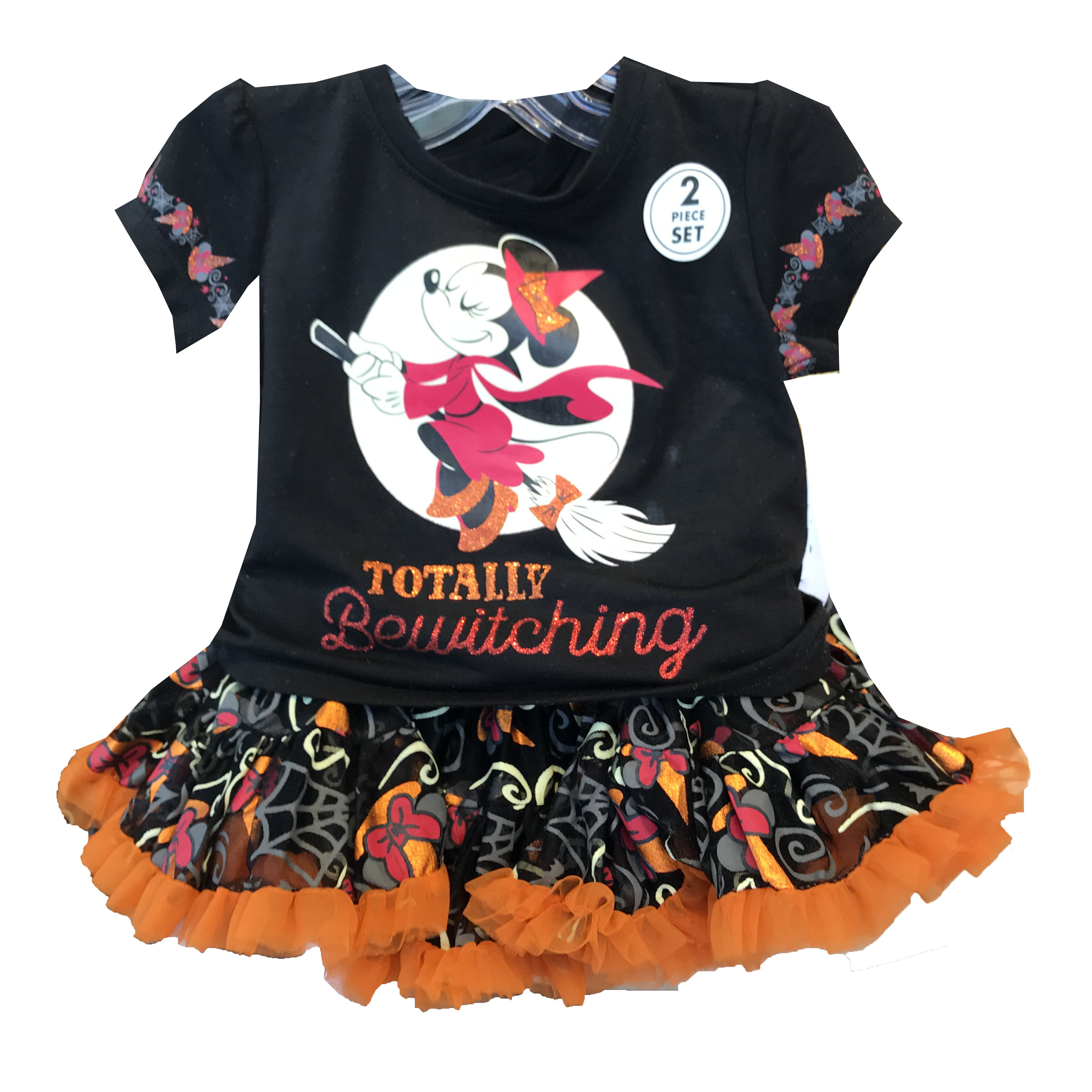 Disney Girls Shirt and Skirt - Halloween - Minnie Mouse Witch