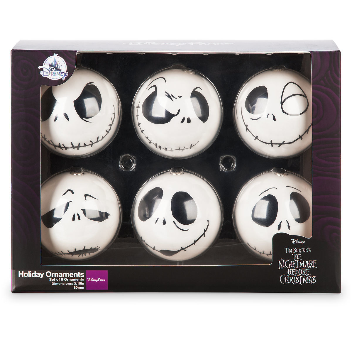 d4eff08c483e0 Disney Holiday Ornament Set - Jack Skellington - Set of 6