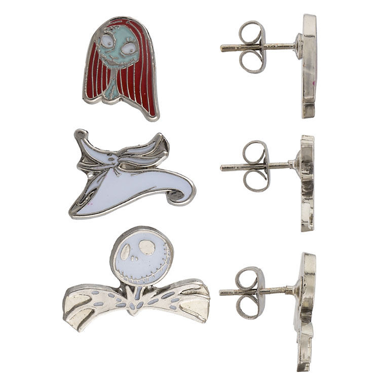 Disney Cruise Disney earrings Disneyland buttons Zero dog Nightmare Before Christmas Disney World fish extenders Dangle
